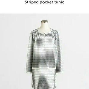 JCrew Striped Tunic